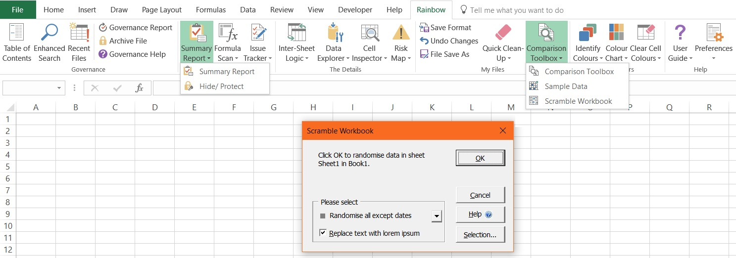 Manage all your spreadsheets with Rainbow 11.0