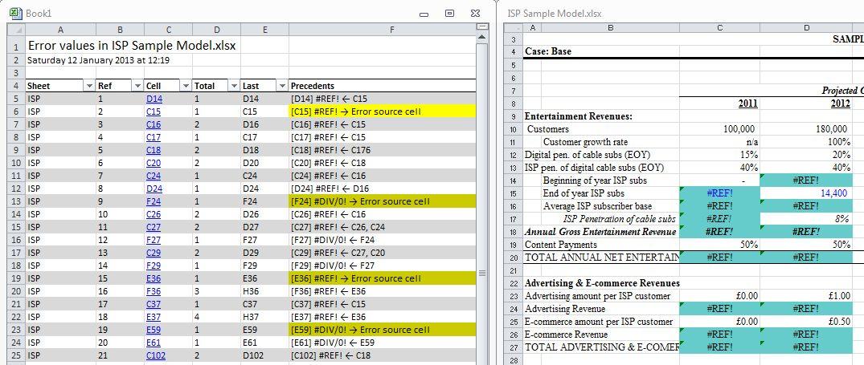 Track down those #REF! errors