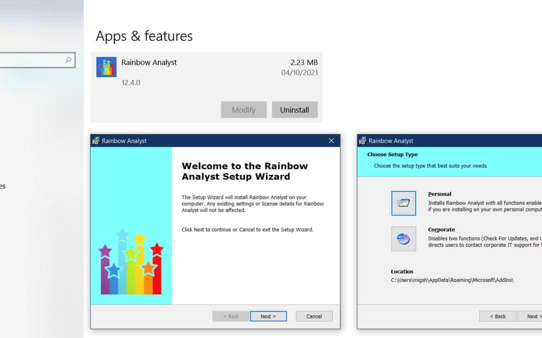 New installer system for Rainbow 12.4